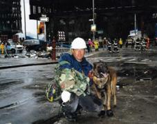 A K9 search and rescue team on 9/11