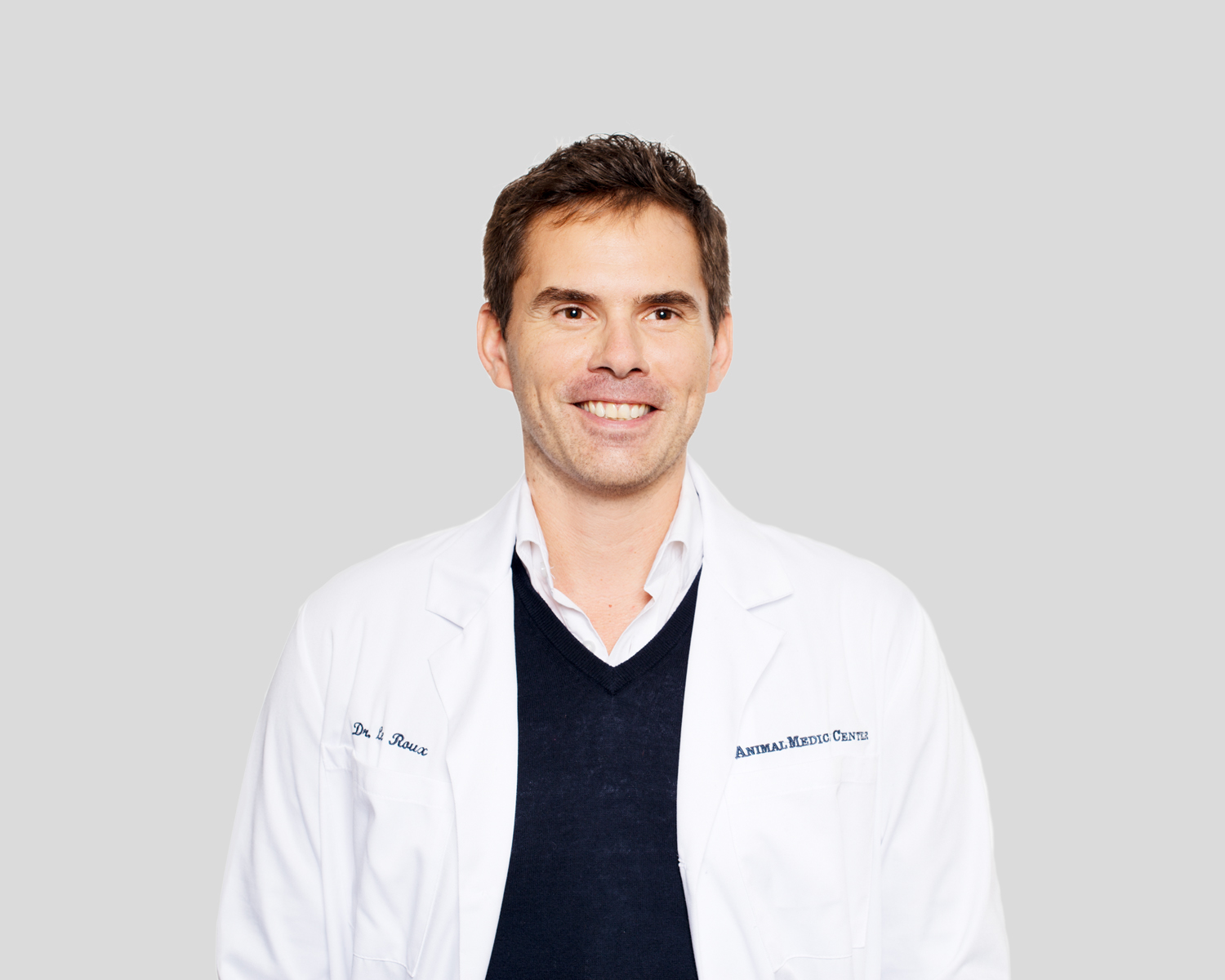 Dr. Alexandre Le Roux of the Animal Medical Center in New York City