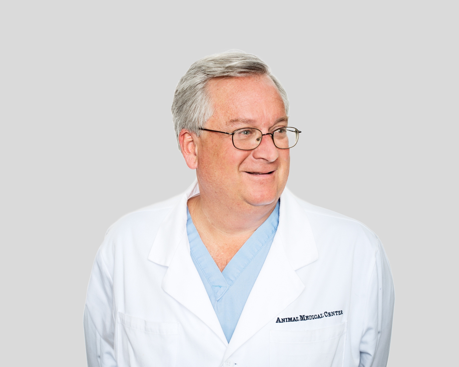 Dr. Dan Carmichael of the Animal Medical Center in New York City