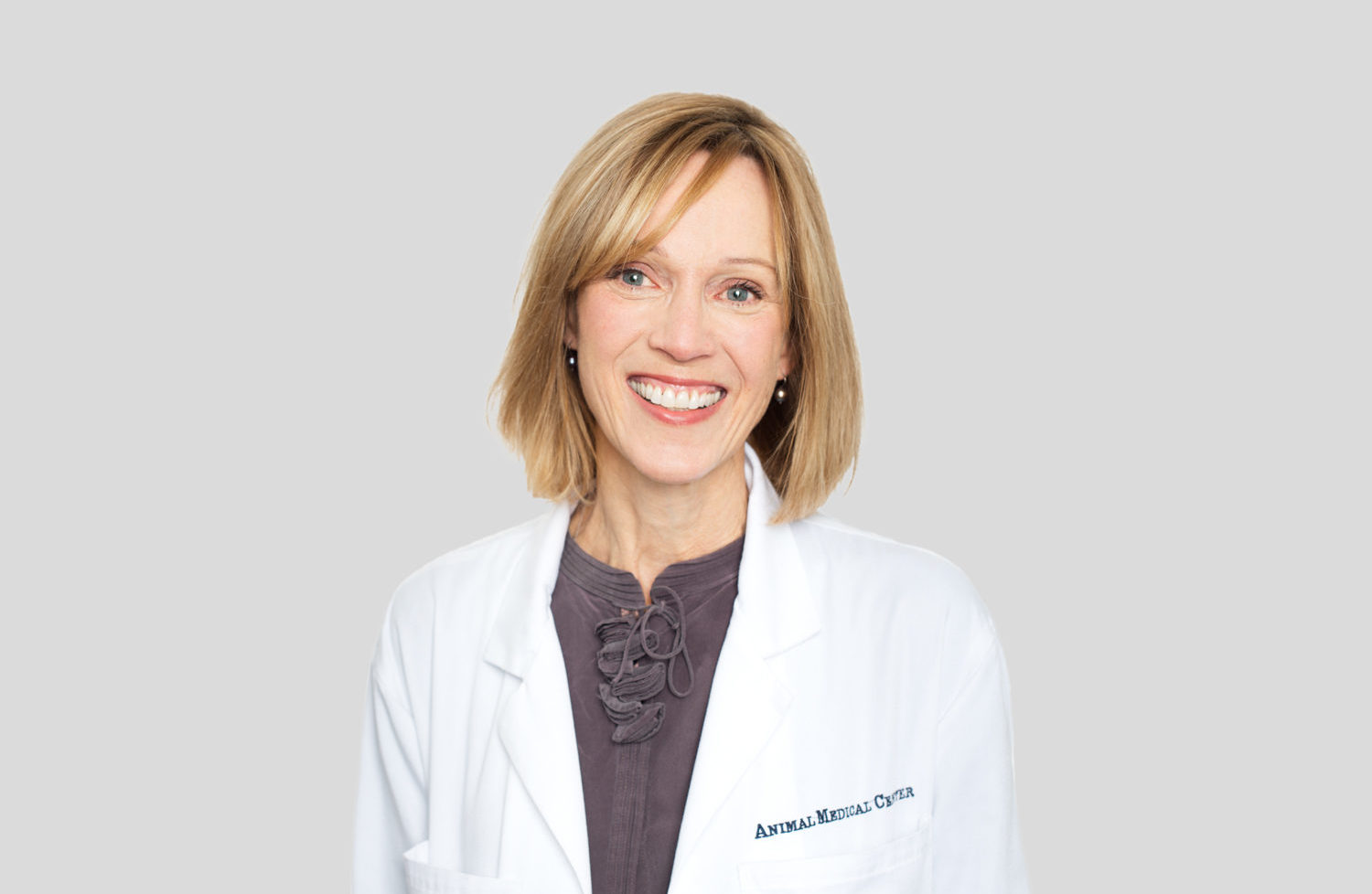 Dr. Katherine Quesenberry of the Animal Medical Center in New York City