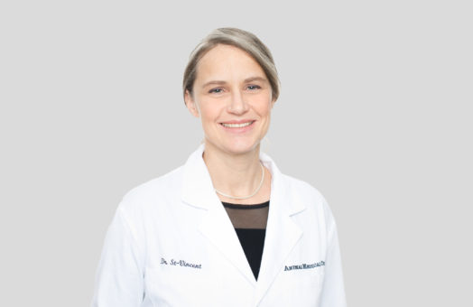 Dr. Rachel St-Vincent of the Animal Medical Center in New York City