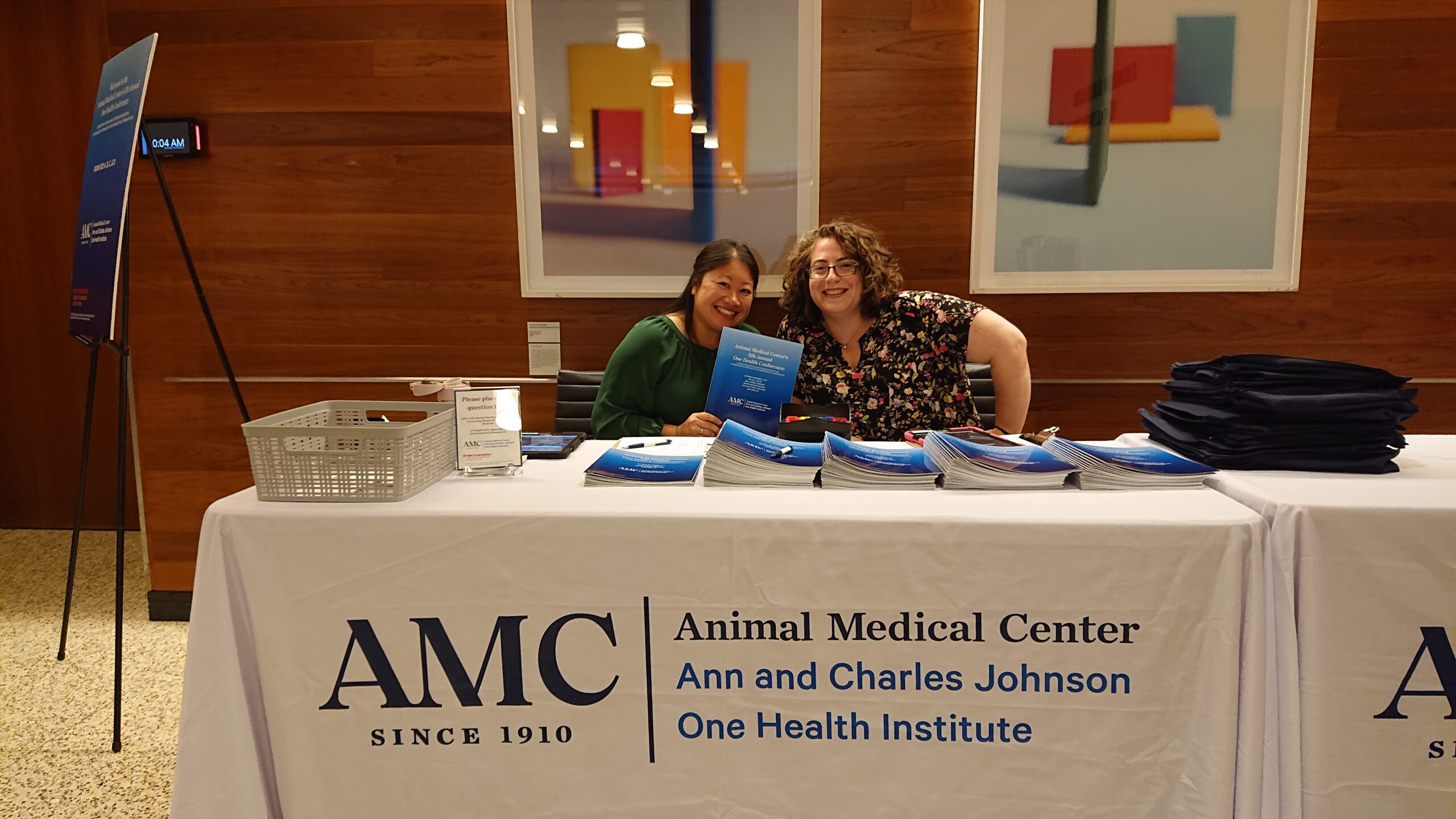 Check-in table at One Health Conference