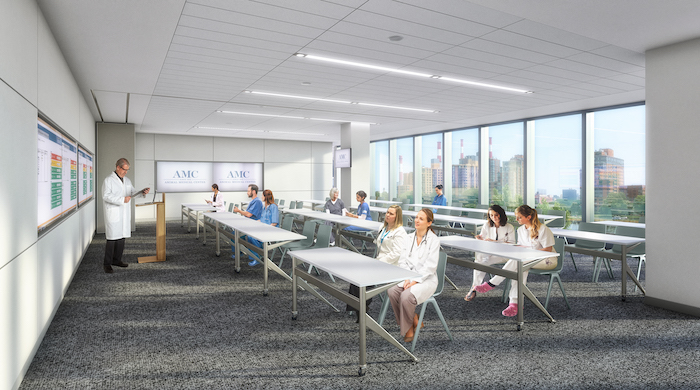 A rendering of a new conference room at the Animal Medical Center