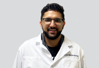 Dr. Amit Sidhu of the Animal Medical Center in New York City