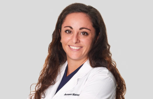 Dr. Brittani D'Amico of the Animal Medical Center in New York City