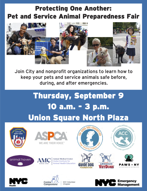 Protecting One Another: Pet and Service Animal Preparedness Fair