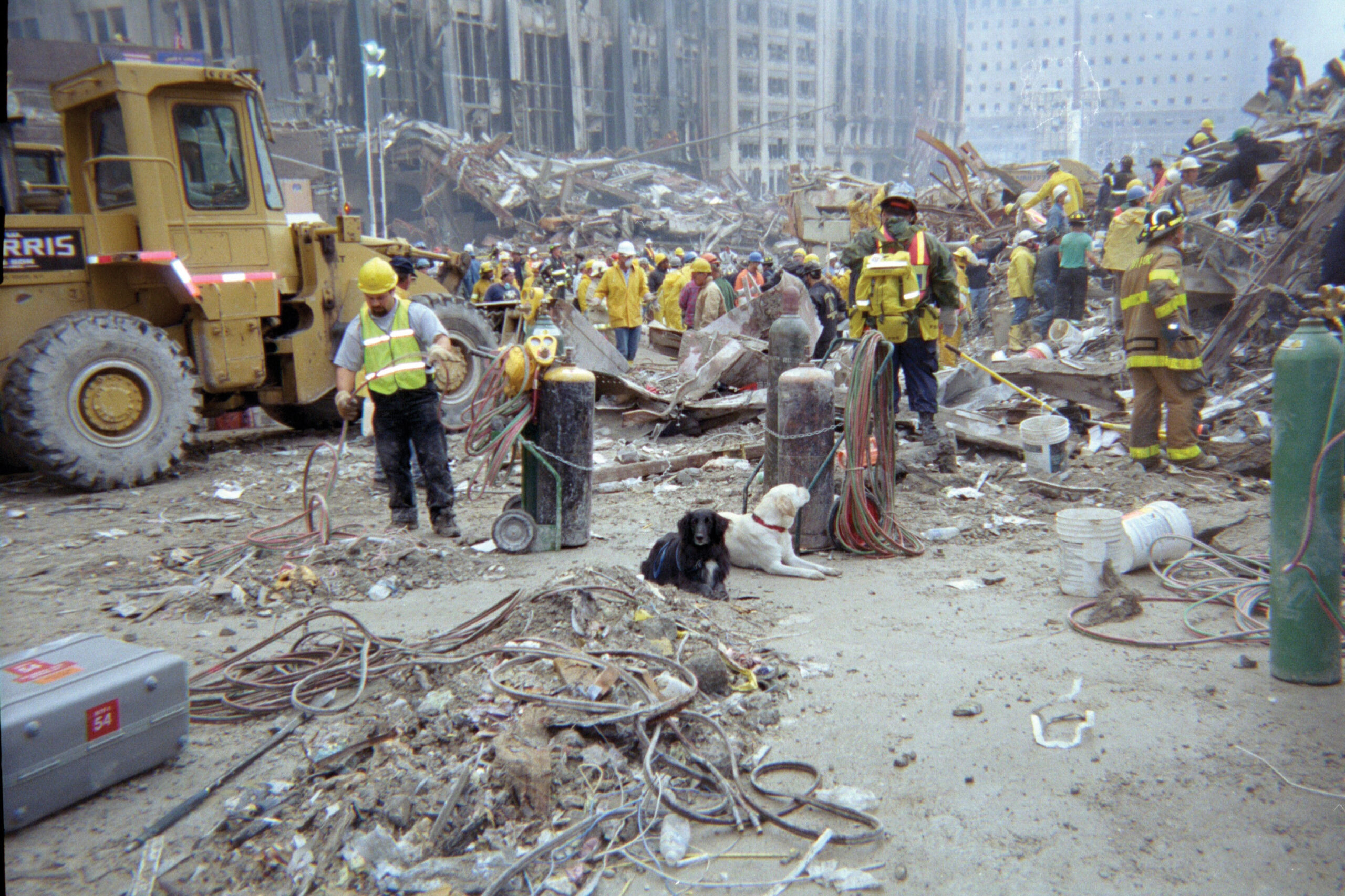 Search and rescue teams at Ground Zero