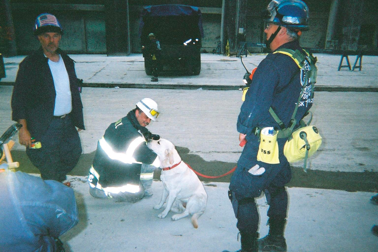 A search and rescue team at Ground Zero